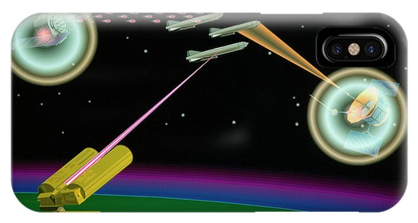 Department Of Defense iPhone Case - Artist's Impression Of Sdi Lasers In Use by Us Department Of Energy/ Science Photo Library