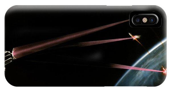 Artist's Impression Of Space-based Sdi Laser Phone Case by Us Department Of Energy / Science Photo Library