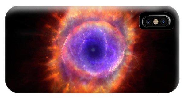 Artwork Of A Planetary Nebula IPhone Case