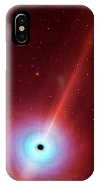 Artwork Of Black Hole Powering A Quasar IPhone Case