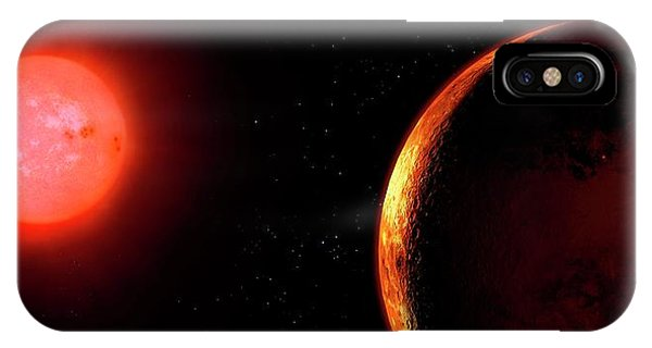 Artwork Of Red Dwarf And Orbiting Planet Phone Case by Mark Garlick