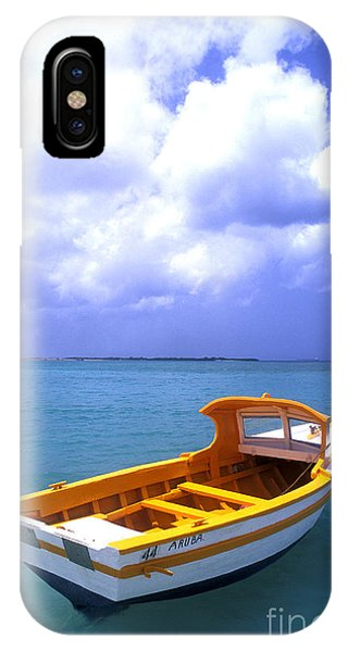 Aruba. Fishing Boat IPhone Case
