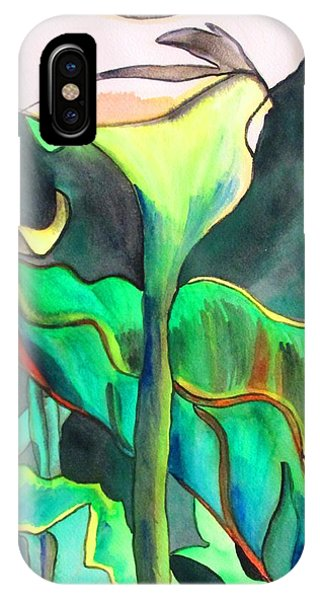 Arum Lily Phone Case by Sacha Grossel