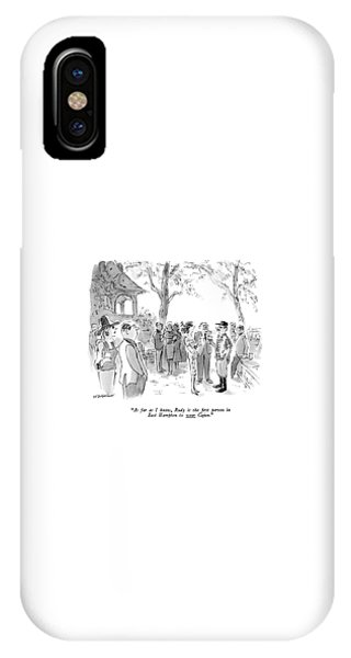 As Far As I Know IPhone Case