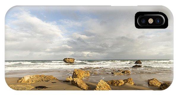 Split Rock iPhone Case - As Shadows Grow Long by Linda Lees