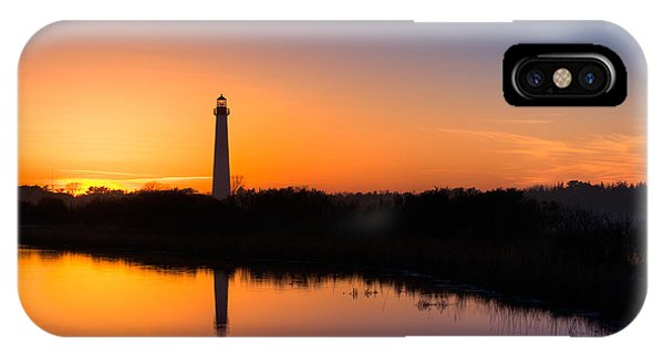 As The Sun Sets And The Water Reflects IPhone Case