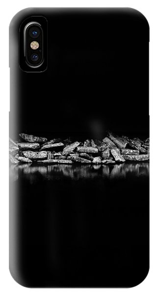 IPhone Case featuring the photograph Ashbridges Bay Toronto Canada Breakwall 1 by Brian Carson