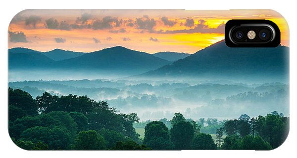 Asheville Nc Blue Ridge Mountains Sunset - Welcome To Asheville IPhone Case