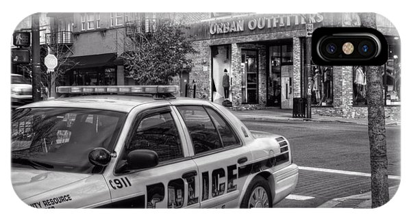 Asheville Pd Car 54 In Black And White IPhone Case