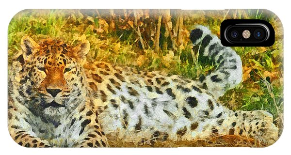 Asian Snow Leopard IPhone Case