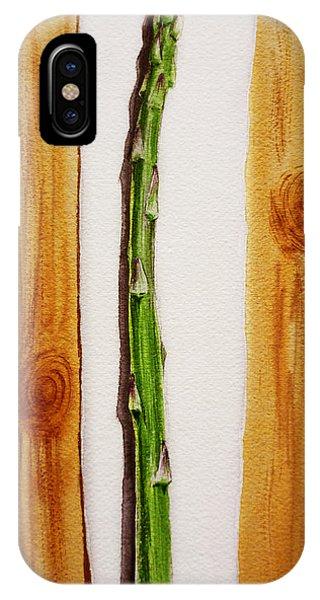 Asparagus Tasty Botanical Study IPhone Case