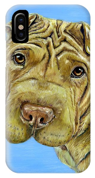 Beautiful Shar-pei Dog Portrait IPhone Case