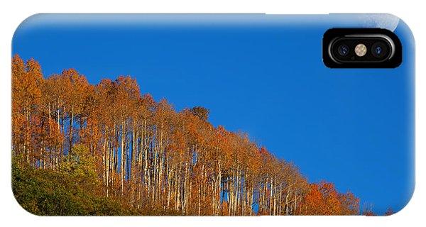 Moonrise Over Aspen IPhone Case