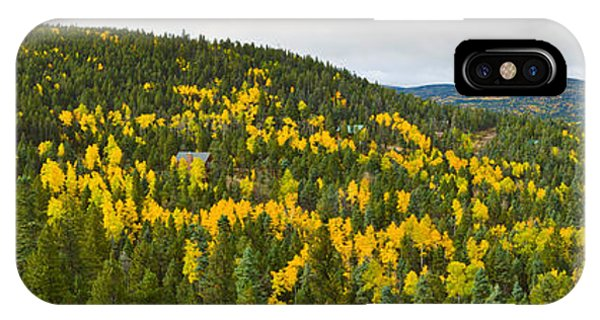 Sangre De Cristo iPhone Case - Aspen Hillside In Autumn, Sangre De by Panoramic Images