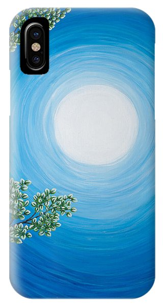 Aspen Moon 2 Triptych IPhone Case