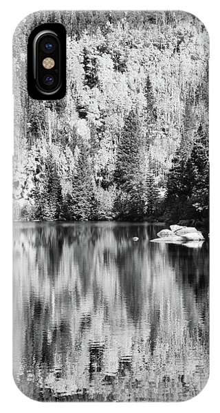 Aspen Reflections - Black And White IPhone Case