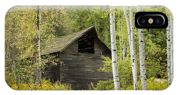 Aspens And Barn IPhone Case