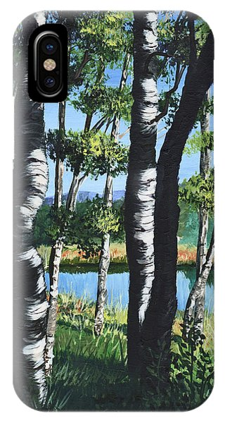 Aspens And Pond IPhone Case