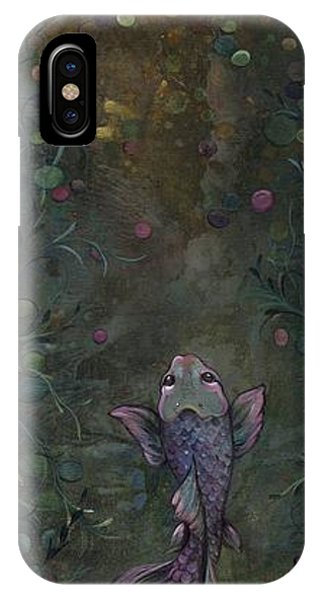 Koi iPhone Case - Aspiration Of The Koi by Shadia Derbyshire