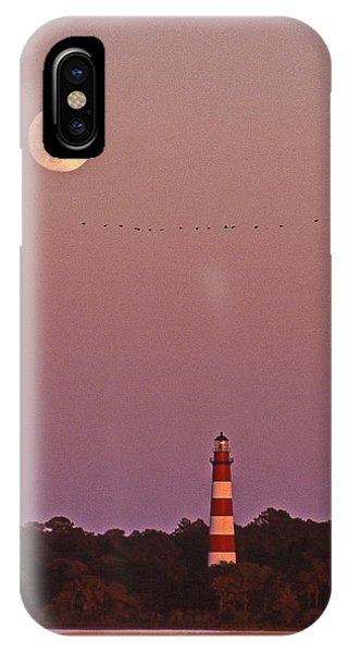 Lighthouse Wall Decor iPhone Case - Assateague Lighthouse Va by Skip Willits