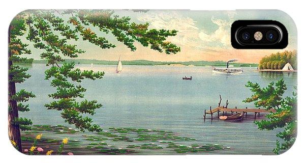 Assawompset Pond 1875 IPhone Case
