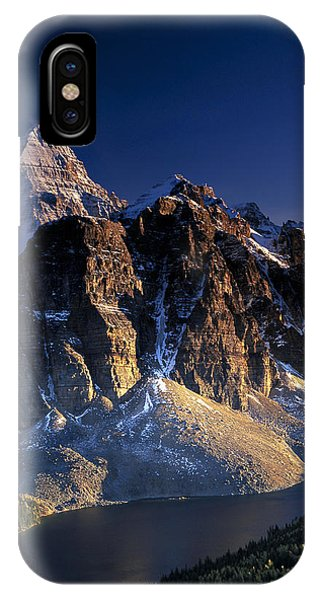 Assiniboine And Sunburst Peak At Sunset IPhone Case