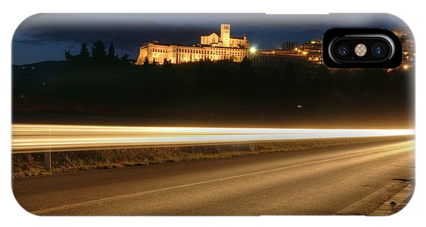 Assisi By Night Phone Case by Luca Roveda