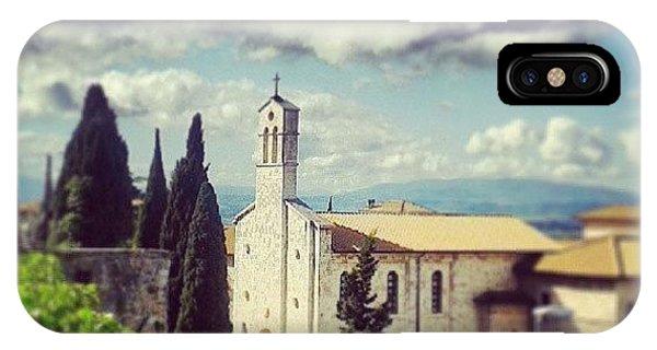 Green iPhone Case - Assisi. San Francesco Place by Raimond Klavins