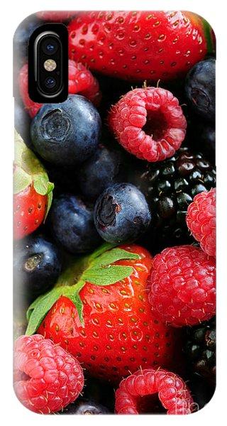 Blueberry iPhone Case - Assorted Fresh Berries by Elena Elisseeva