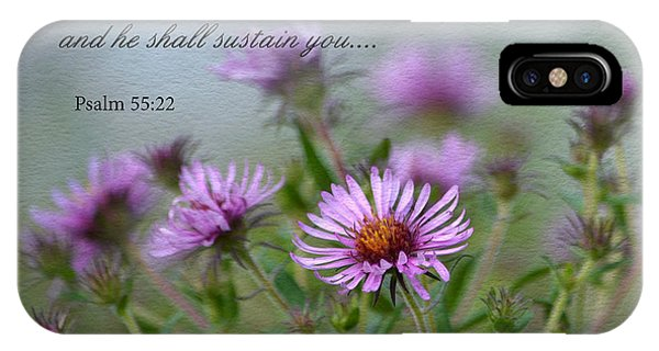 Asters With Scripture IPhone Case