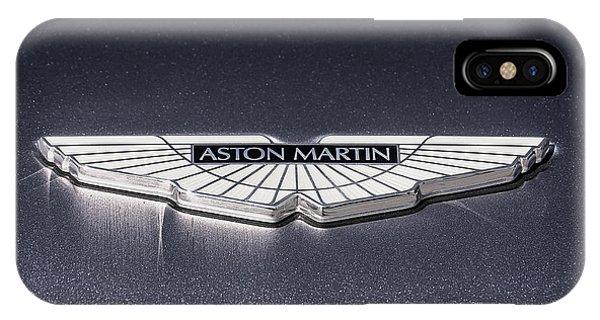 Logo iPhone Case - Aston Martin Badge by Douglas Pittman