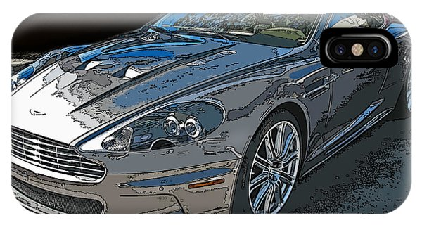 Aston Martin Db S Coupe 3/4 Front View IPhone Case