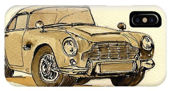 Vehicles iPhone Case - Aston Martin Db5 by Juan  Bosco