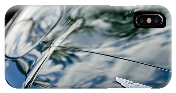 Martin iPhone Case - Aston Martin Hood Emblem 4 by Jill Reger