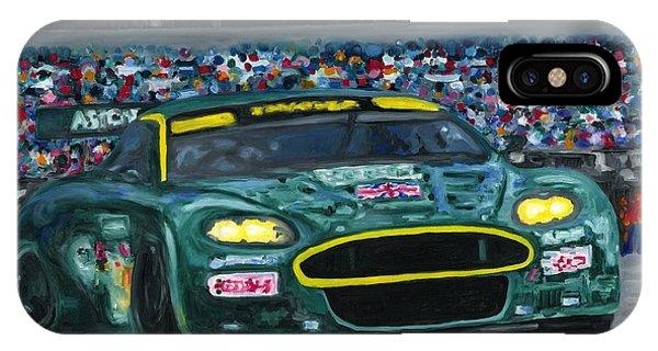 Aston Martin Wins Le Mans 2008 IPhone Case