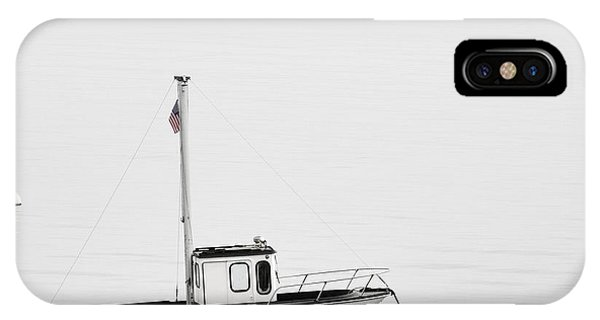 At Anchor Bar Harbor Maine Black And White Square IPhone Case