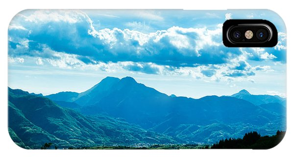 At Barga Looking Towards The Apuane Alps From The Duomo Tuscany IPhone Case
