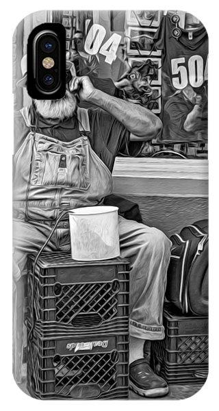 Steve Harrington iPhone Case - At His Office - Grandpa Elliott Small Bw by Steve Harrington