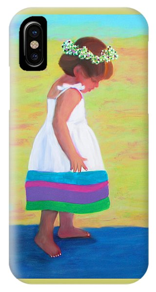 IPhone Case featuring the painting At The Beach by Deborah Boyd