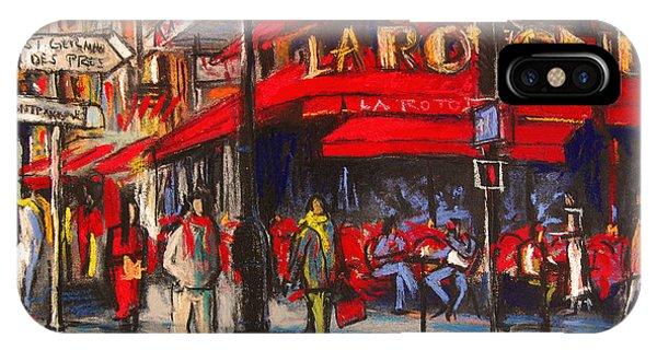 Facade iPhone Case - At The Cafe De La Rotonde Paris by Mona Edulesco