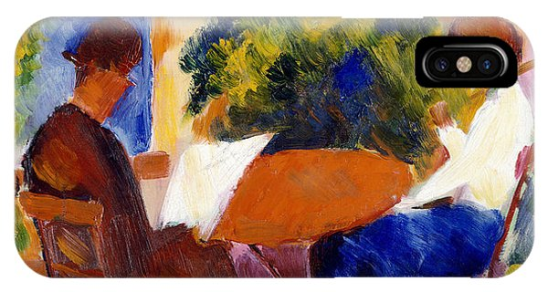 Garden iPhone X Case - At The Garden Table by August Macke