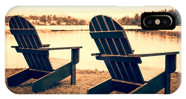 Cabin iPhone Case - At The Lake by Edward Fielding