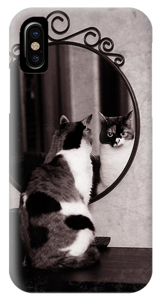 At The Mirror IPhone Case