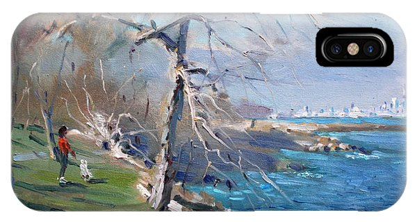 Lake iPhone Case - At The Park By Lake Ontario by Ylli Haruni