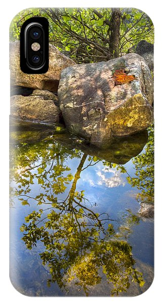 Chilhowee iPhone Case - At The River by Debra and Dave Vanderlaan
