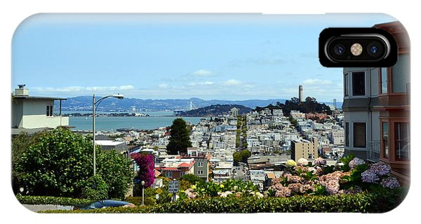 At The Top - Lombard Street IPhone Case