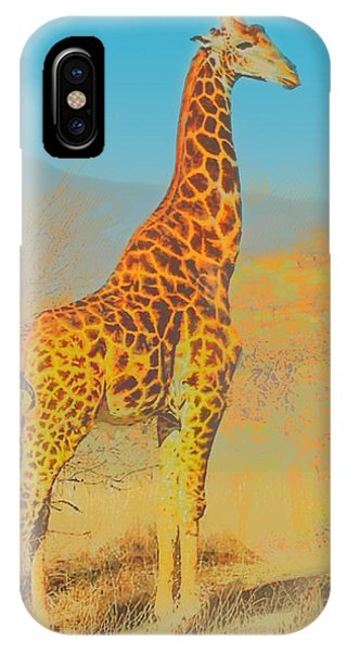 At The Zoo - Giraffe IPhone Case