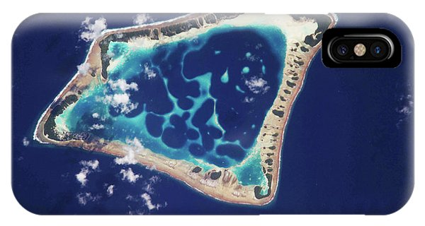 Micronesia iPhone Case - Atafu Atoll by Nasa