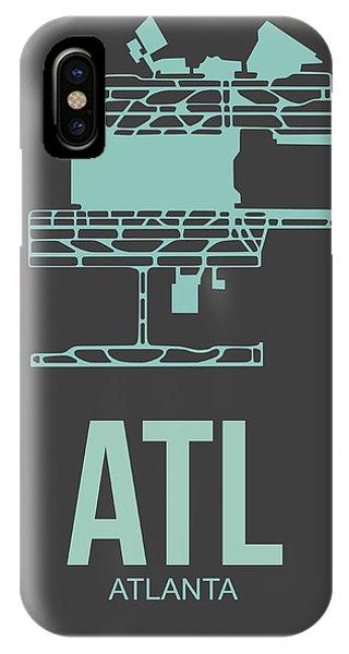Georgia iPhone Case - Atl Atlanta Airport Poster 2 by Naxart Studio