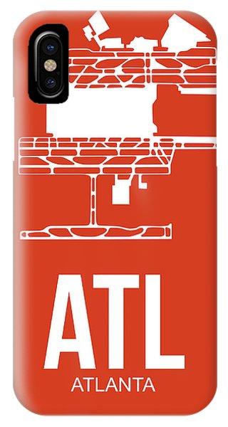 Georgia iPhone Case - Atl Atlanta Airport Poster 3 by Naxart Studio